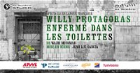 Willy Protagoras Locked in the toilet poster